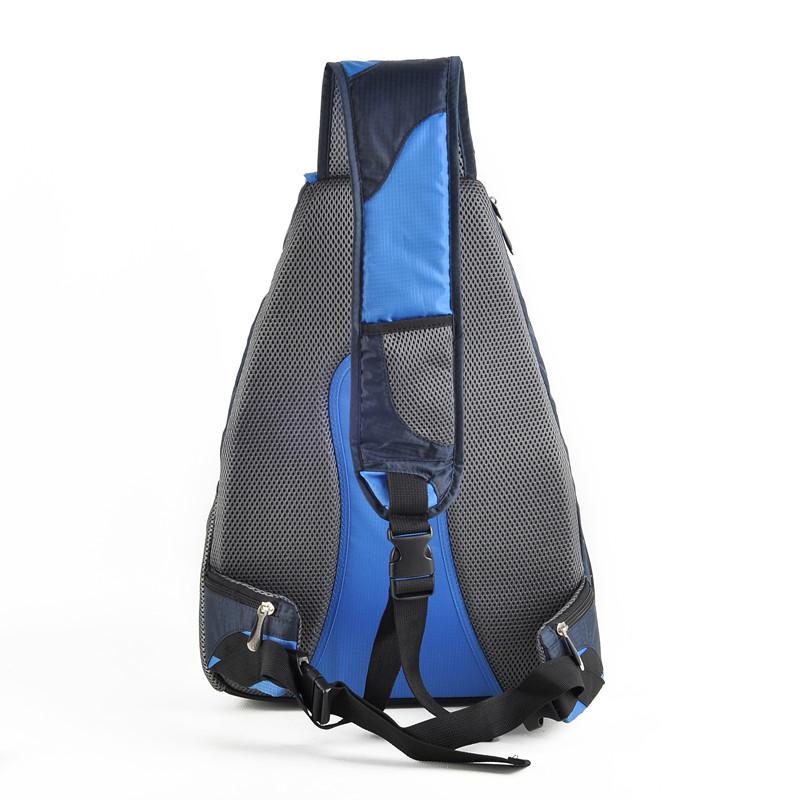 back side of the single shoulder backpack